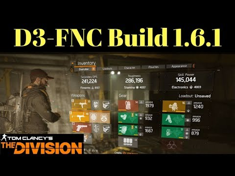 The Division D3-FNC Build 1.6.1 + Underground Gameplay 2 Phase Operation!