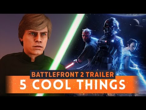 ► 5 COOL MOMENTS FROM THE STAR WARS BATTLEFRONT 2 TRAILER!