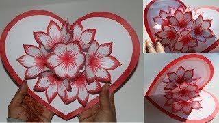 DIY Flower Pop up Card 2-Paper Crafts-Handmade craft