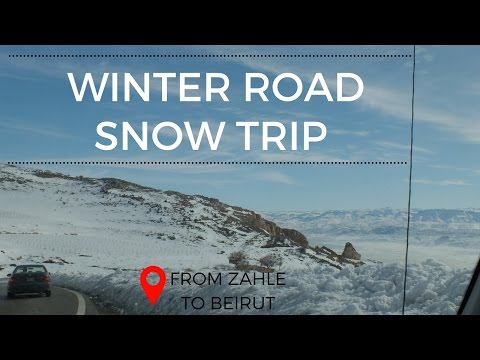 Winter Road Trip from Zahle to Beirut
