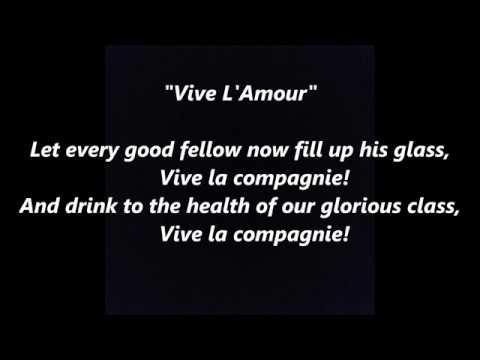 Vive L'Amour French college LYRICS WORDS BEST TOP POPULAR FAVORITE TRENDING SING ALONG SONGS