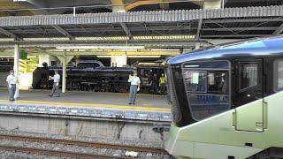 "〔4K UHD|cc〕JR東日本・高崎線:高崎駅、SL""C61 20""+E001形/○クルーズトレイン○『TRAIN SUITE四季島号』発車シーン。《8010M》"