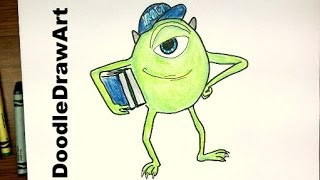 How To Draw Mike Wasowski from Monster