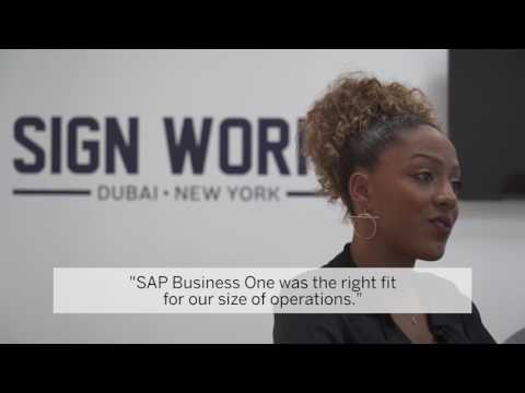 Seidor MENA helps Sign Works to run better with SAP Business One