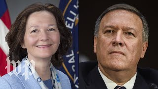 From youtube.com: President Trump's pick for secretary of state, CIA Director Mike Pompeo, and his replacement, CIA deputy director Gina Hansel. {MID-268430}