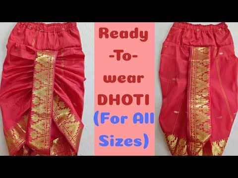 Ready to Wear Dhoti for Any Size , Mens Dhoti, Traditional Day Wear, Dhoti for Kids