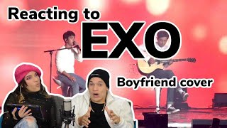 EXO-Love concert - Boyfriend(acoustic ver.) D.O. with Chanyeol REACTION!!!