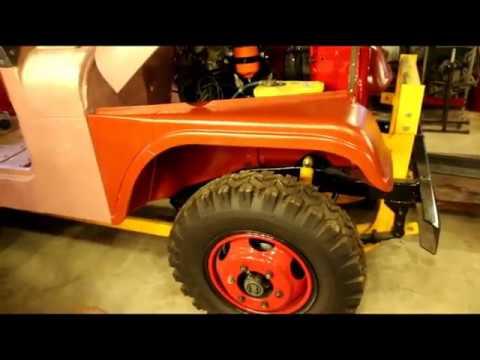 Willys CJ5 Snow Blower JeepFenders, Heater, Wiring, etc - YouTube