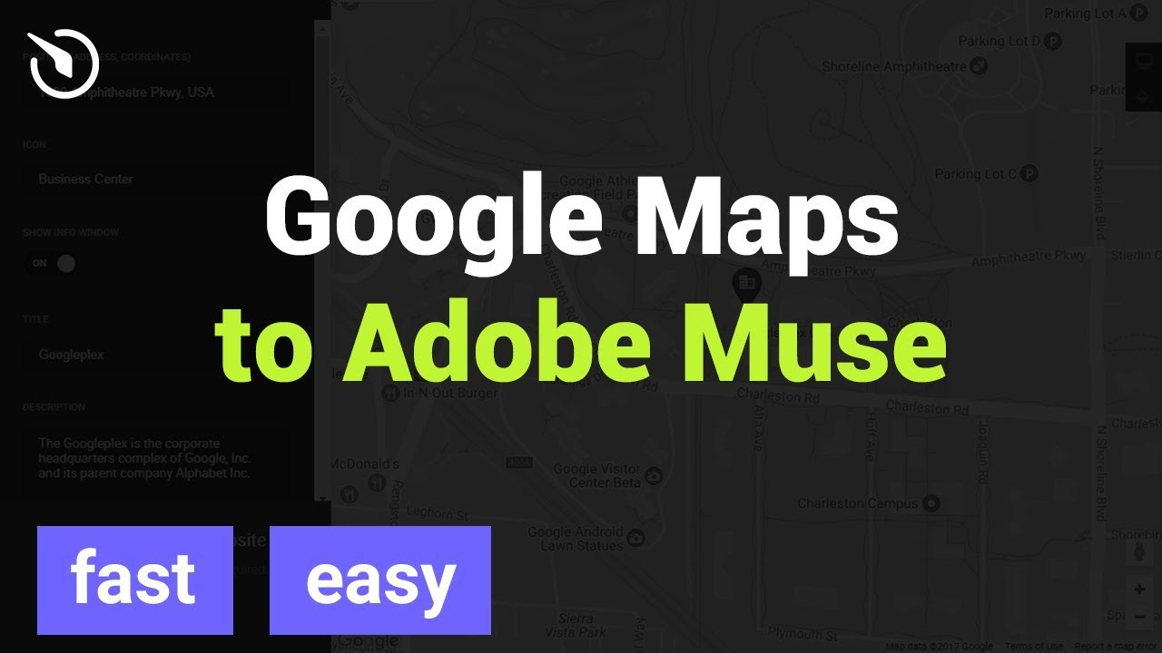 How to Add Google Maps widget to Adobe Muse - Free Google Maps