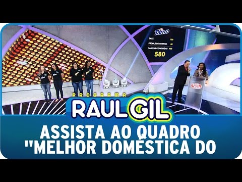 """Programa Raul Gil (04/10/14) - Raul quer saber quem é """"A Melhor Doméstica Do Brasil"""""""