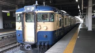 """【しなの鉄道115系""""スカ色""""】長野駅発車"""