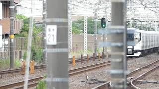 【うわぁ被られた‼️】E257系0番台M-111編成 最後の新宿さざなみ4号 運用日