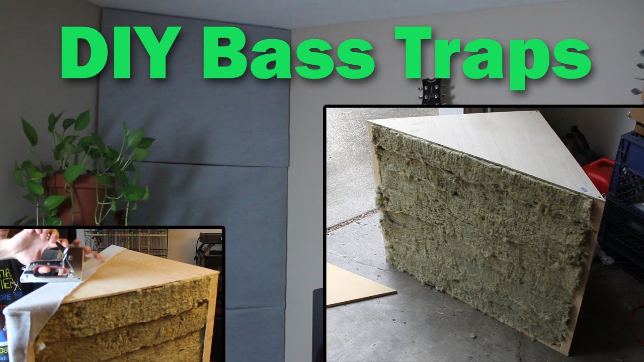 DIY Bass Traps: Home Studio Room Acoustics