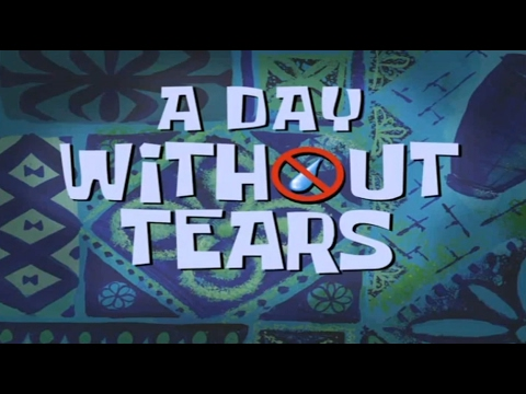 SpongeBob SquarePants - A Day Without Tears - Title Card (Greek)