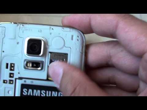 Samsung Galaxy S5: How to Insert a Micro SD Card
