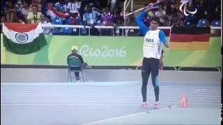 Devendra Jhajharia's World Record Javelin throw at Rio Paralympics