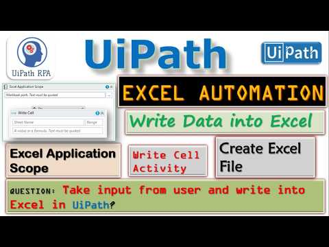 UiPath-Write Data to Excel File|Excel Automation|UiPath RPA