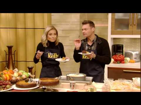 Kelly and Ryan Seacrest Bake Pumpkin Ricotta Cheesecake