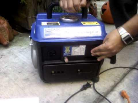 Generador el ctrico chicago a gasolina 2hp 800w youtube - Generador de corriente ...
