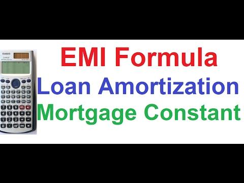 Loan Amortization, EMI Formula, Mortgage Constant, Type of Loan Casio fx-991ES Scientific Calculator