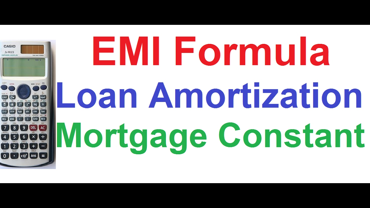 formula for mortgage amortization