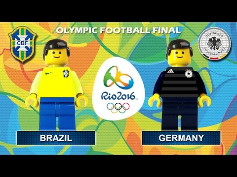Rio 2016 Olympic Football Final : Brazil vs Germany ( gold medal Rio2016 ) highlights Lego Football