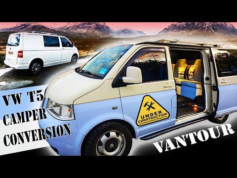 VW Transporter T5 DIY Custom Built Camper Van | Tour and Vanlife