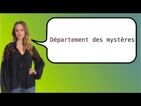 How to say 'Department of Mysteries' in French?