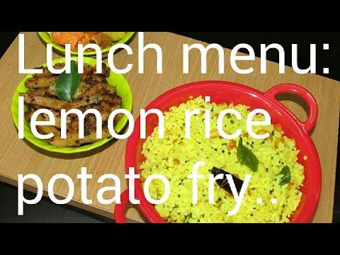 நாளைக்கு இந்த லஞ்ச் ரெடி பண்ணுங்க... Lemon rice with Potato fry...
