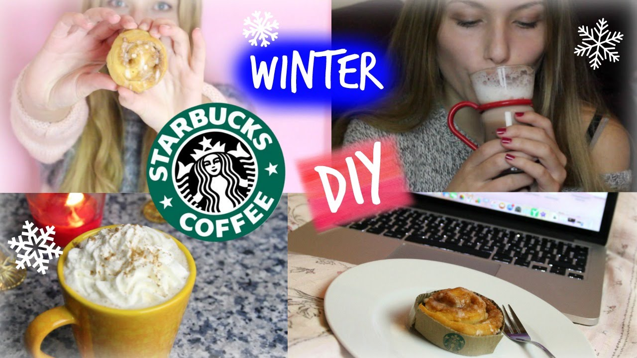Winter STARBUCKS SNACKS & GETRÄNKE DIY ♥♥ - YouTube