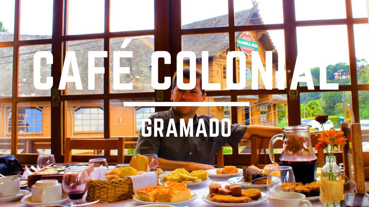 CAF COLONIAL em GRAMADO  Mesa Farta e Saborosa  YouTube