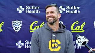 Cal Football Post Practice - HC Justin Wilcox 9/30/19