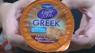 We Shorts - Dannon Light & Fit Greek Caramel Apple Pie Yogurt