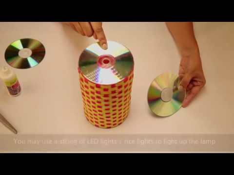 Full download how to make a wall hanging cd ganesha for Latest best out of waste