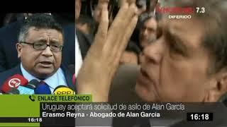 """Abogado de Alan García: asilo fue por """"pedido expreso de los dirigentes del APRA""""."""
