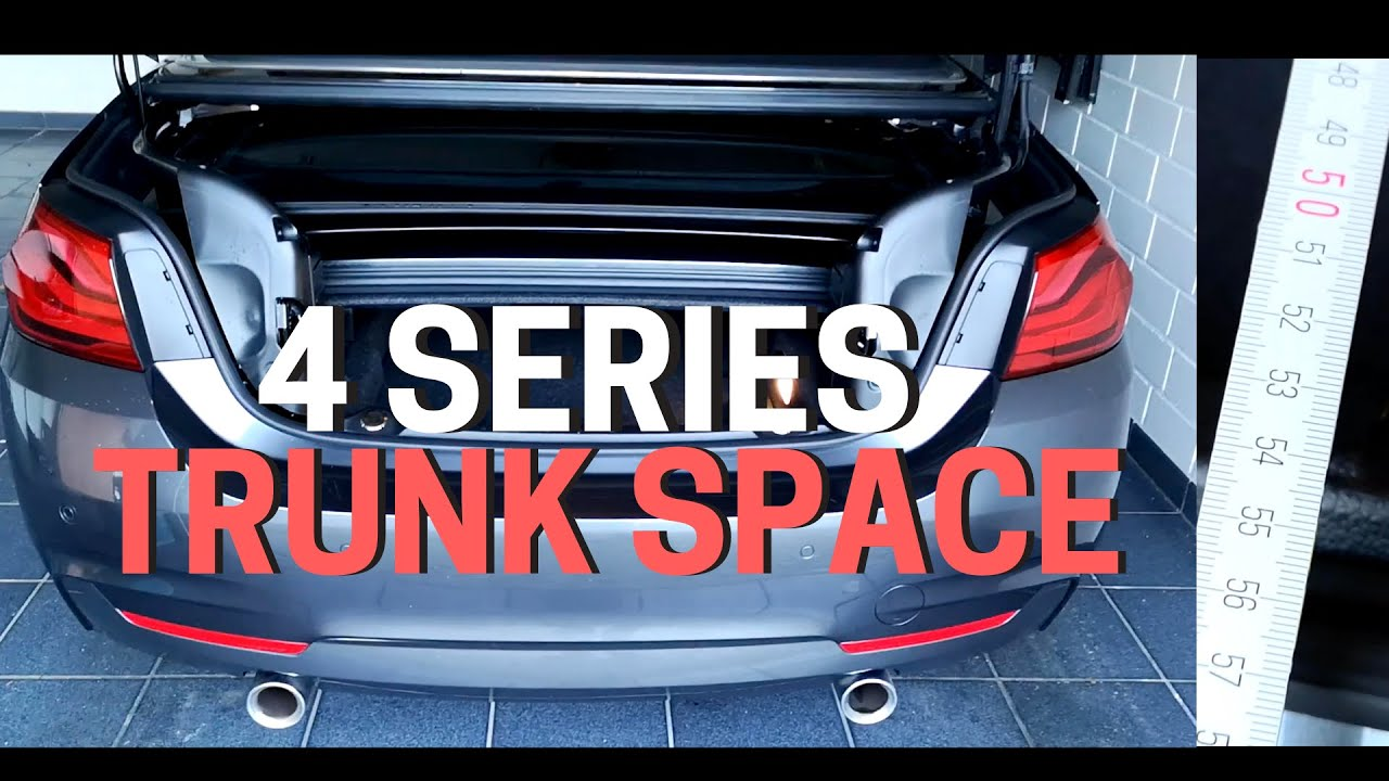 2019 BMW 4 Series CONVERTIBLE TRUNK SPACE | DIMENSIONS ...
