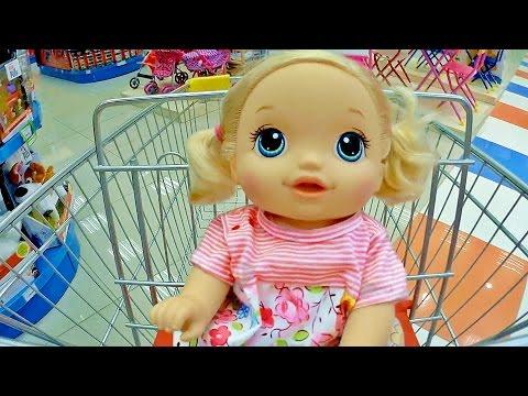 Куклы Пупсики Беби Элайв магазин Игрушки Покупки Тайная жизнь Baby Born Детский канал Зырики ТВ