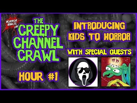 INTRODUCING KIDS TO HORROR 💀 Creepy Channel Crawl Hour #1 w/ Captain Myenstein & Angsty Mantis