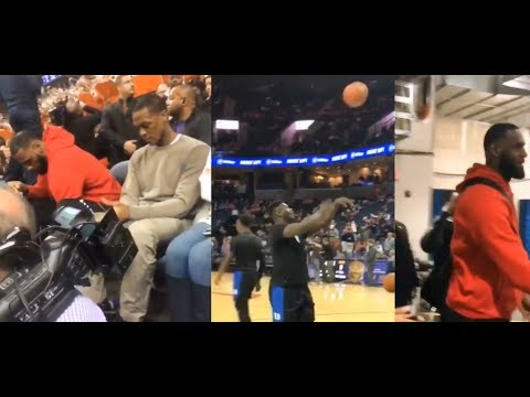 LeBron James & Rajon Rondo Watching Zion Williamson! Duke vs Virginia!
