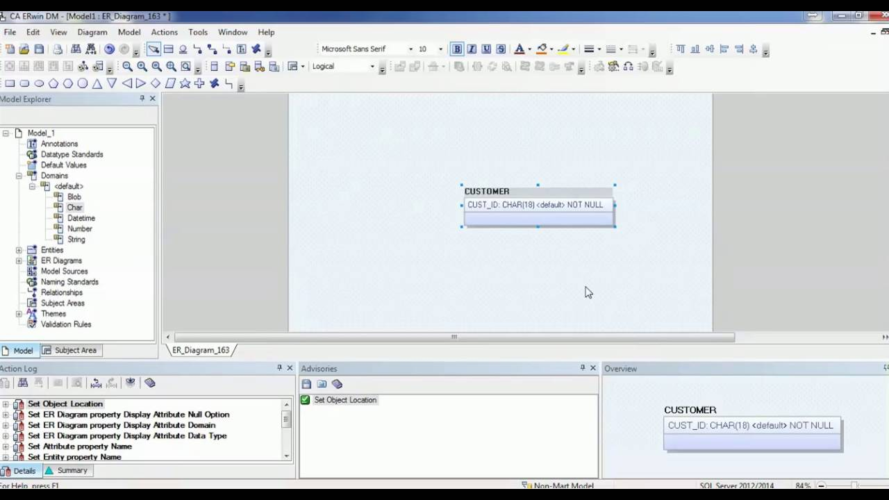 06 erwin data modeler tool tutorial how to create domain erwin data modeler tool tutorial how to create domain attributes youtube ccuart Image collections