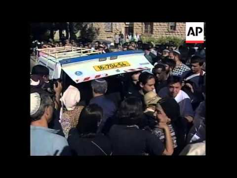 MIDDLE EAST: FUNERAL OF JEWISH SETTLER KILLED IN WEST BANK