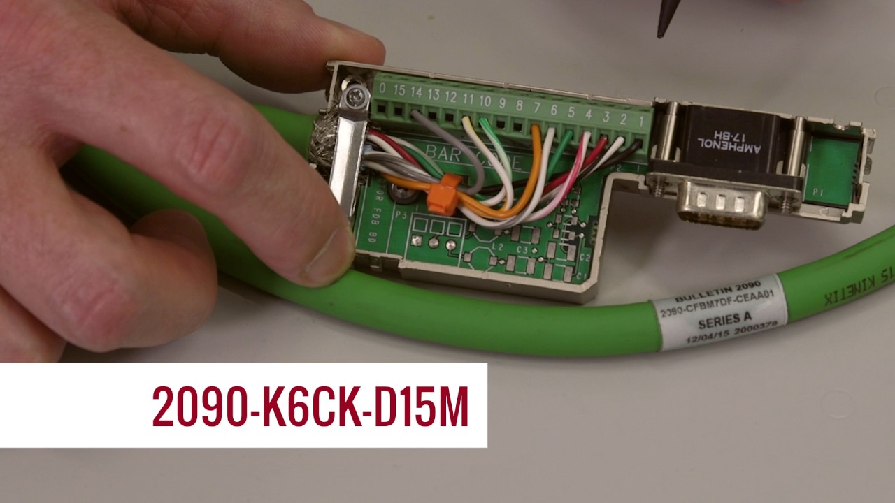 small resolution of proper power and feedback cable wiring at the kinetic 6500 servo drive