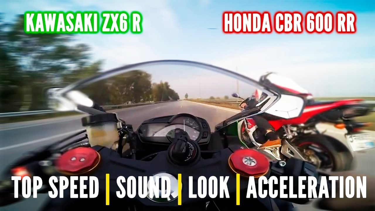 Honda Cbr 600 Rr Vs Kwasaki Zx6r Top Speed Price Sound More