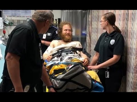 Singer Mike Posner is airlifted to the hospital after being bitten by a rattlesnake