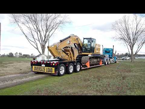 Loading Up A New Cat 320GC Excavator