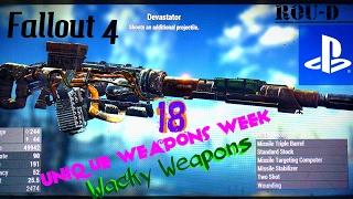 Gambar cover Fallout 4 - WACKY WEAPONS - UNIQUE CREATIONS - Devastator, Merc Cutlass, Gamma Racer and more!!