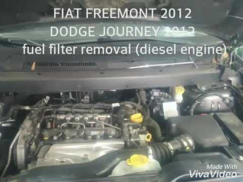 Fiat Freemont 2012 Fuel Filter Removal Diesel Youtube