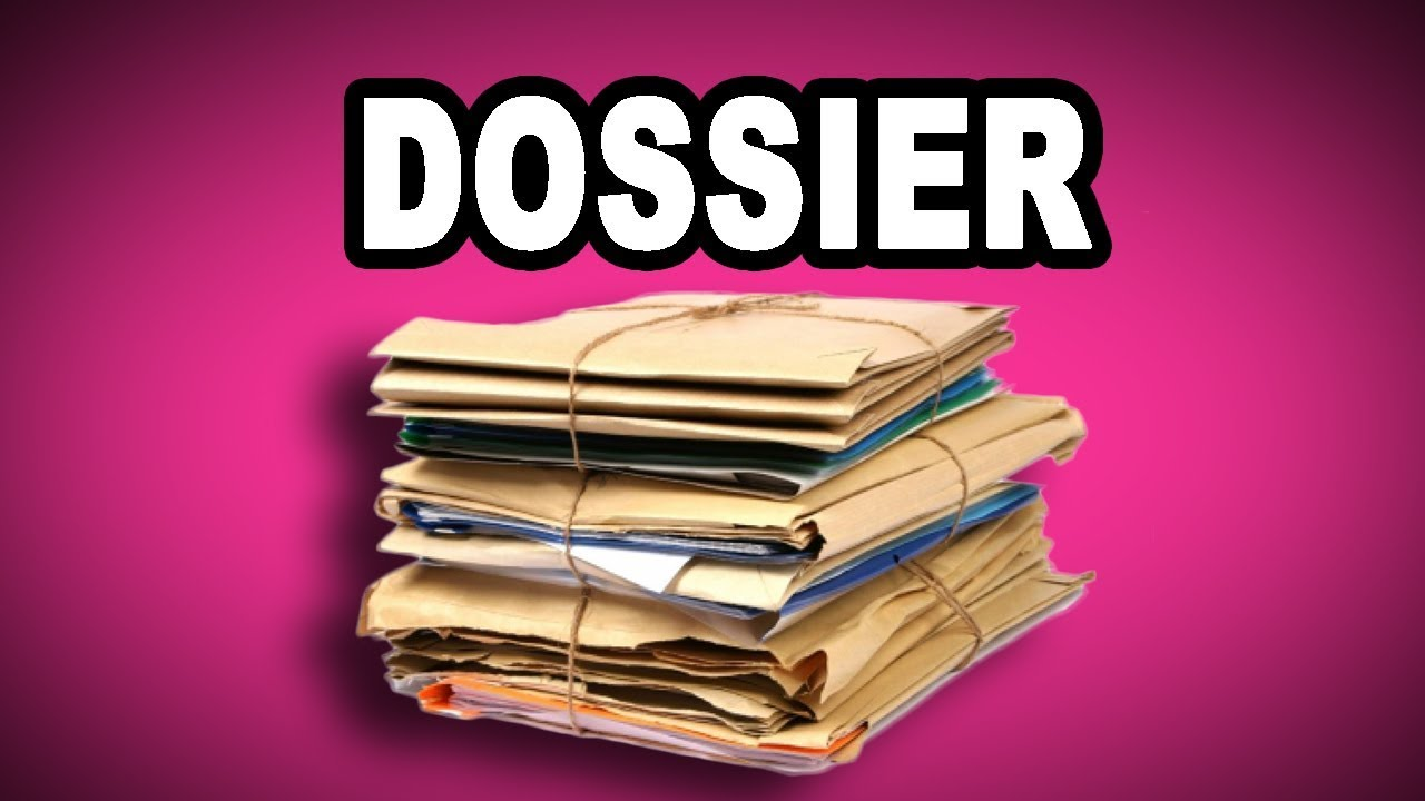 Learn English Words: DOSSIER - Meaning, Vocabulary with Pictures ...