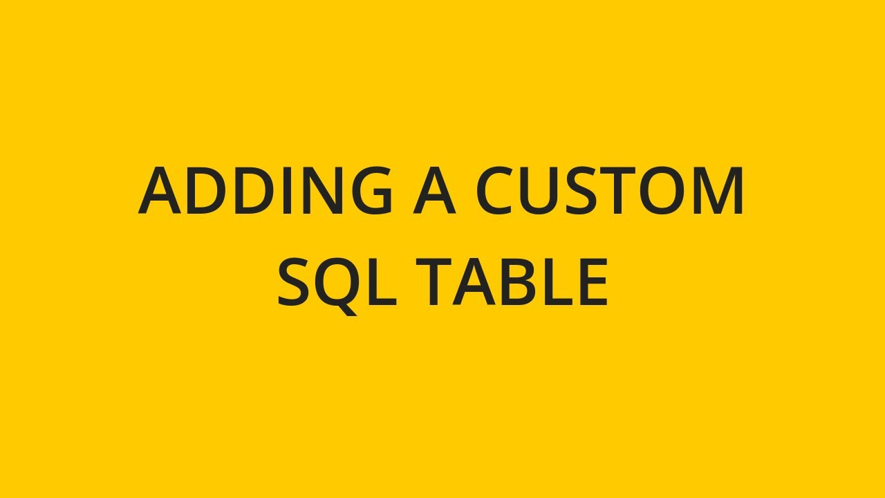 Adding a New Custom Table   Sisense   Documentation