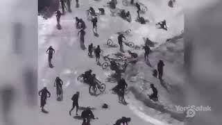متداول   بالعشرات   شاهد مجزرة الدراجات الهوائية في فرنسا